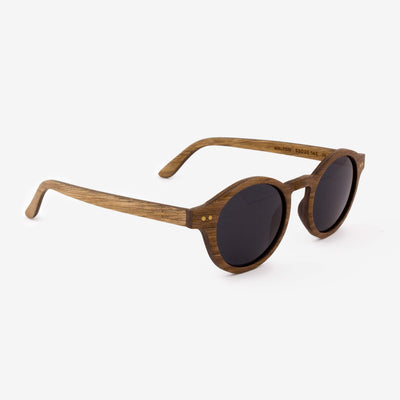 Walton black walnut adjustable wooden sunglass temples