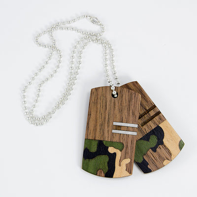 Wooden Dog Tags | Camouflage