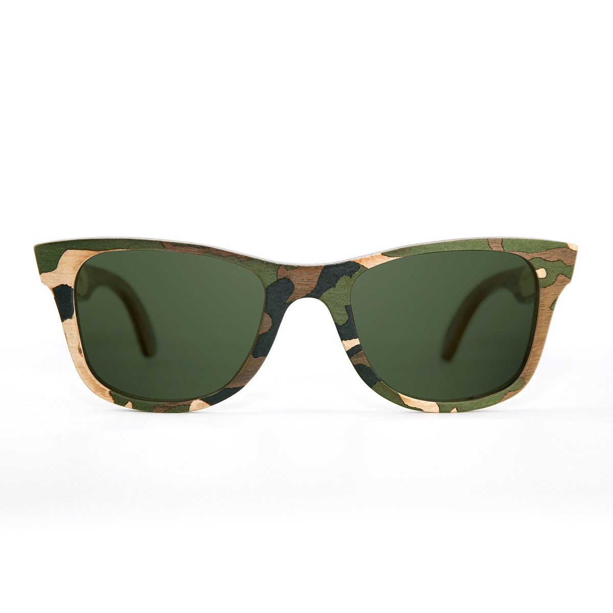 camouflage wood sunglasses