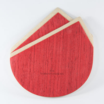 Wood Pocket Square | Red & Maple Curly