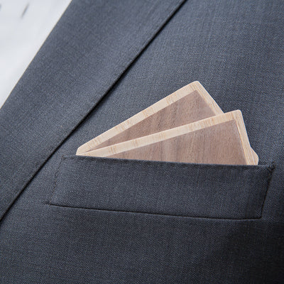 Wood Pocket Square | Walnut & Maple
