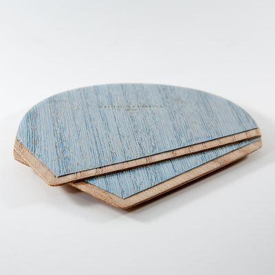 Wood Pocket Square | Light Blue & Teak