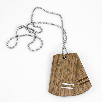 Dog Tags Walnut