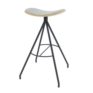 <b> BARCLAY </b><br>Bar Height Upholstered Saddle Stool - thirdwardfurniture