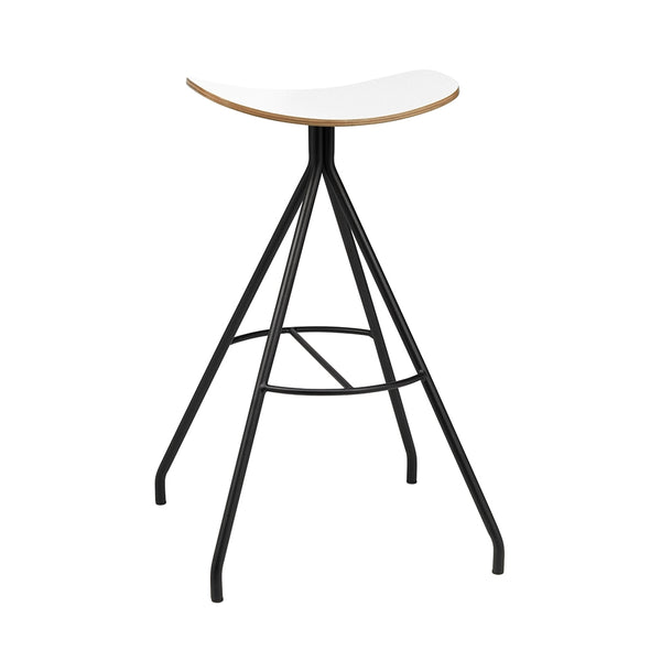 <b> BARCLAY </b><br>Bar Height Laminate Saddle Stool - thirdwardfurniture