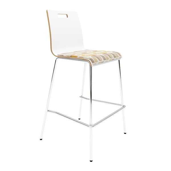 <b> SYCAMORE </b><br>Bar Height, High Back Stool - thirdwardfurniture