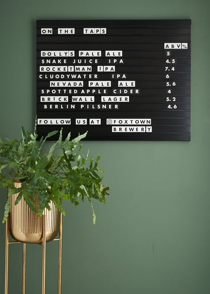 Black Letter Display Board