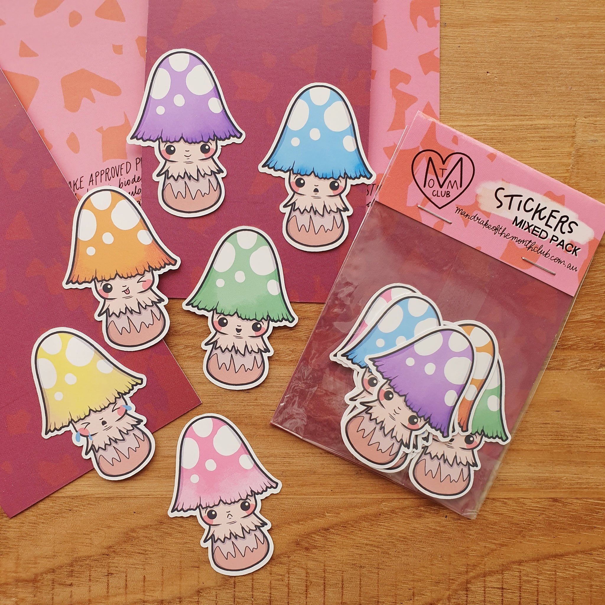 Sticker Pack | Pastel Toadstools