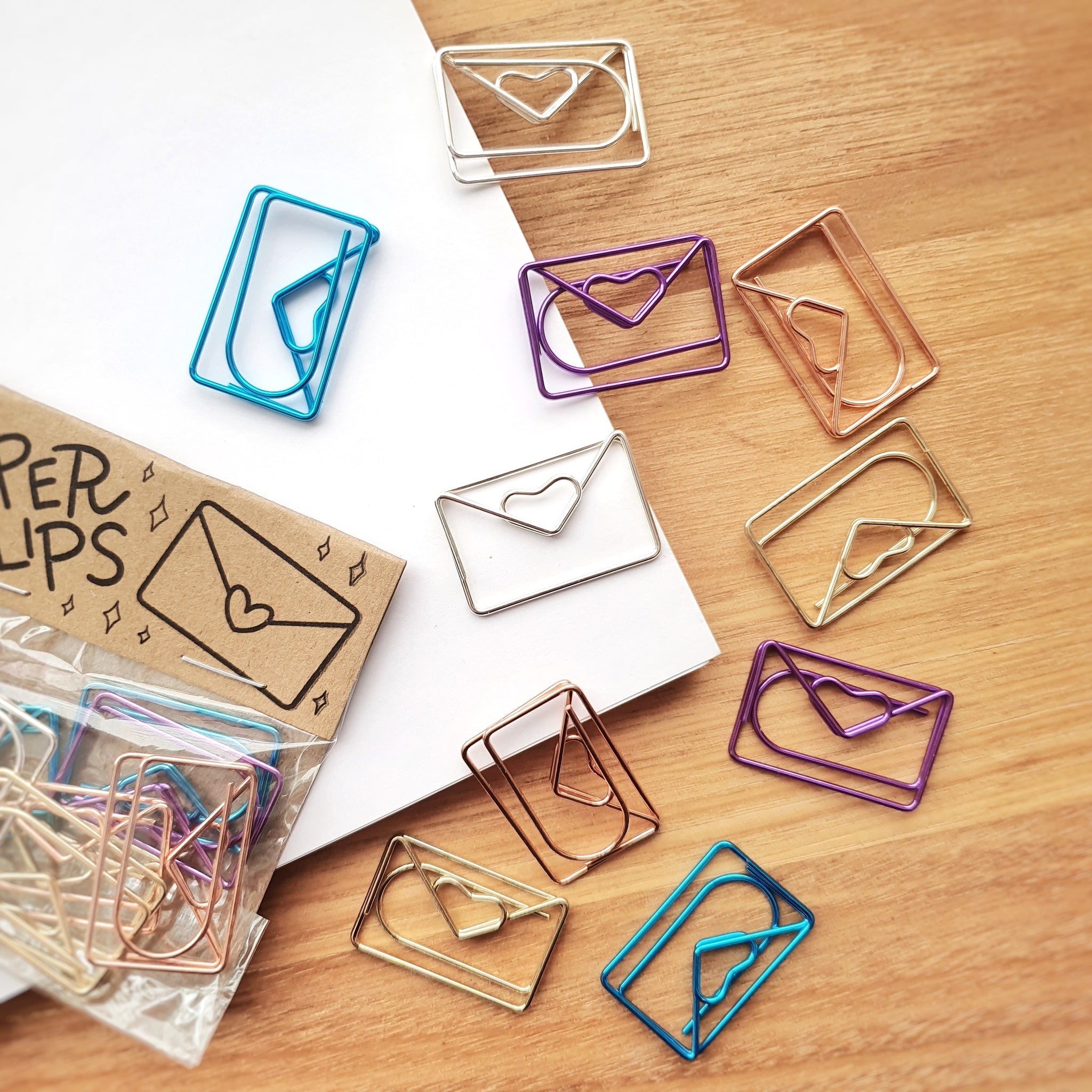 Love Letter Paper Clips | 10 Pack