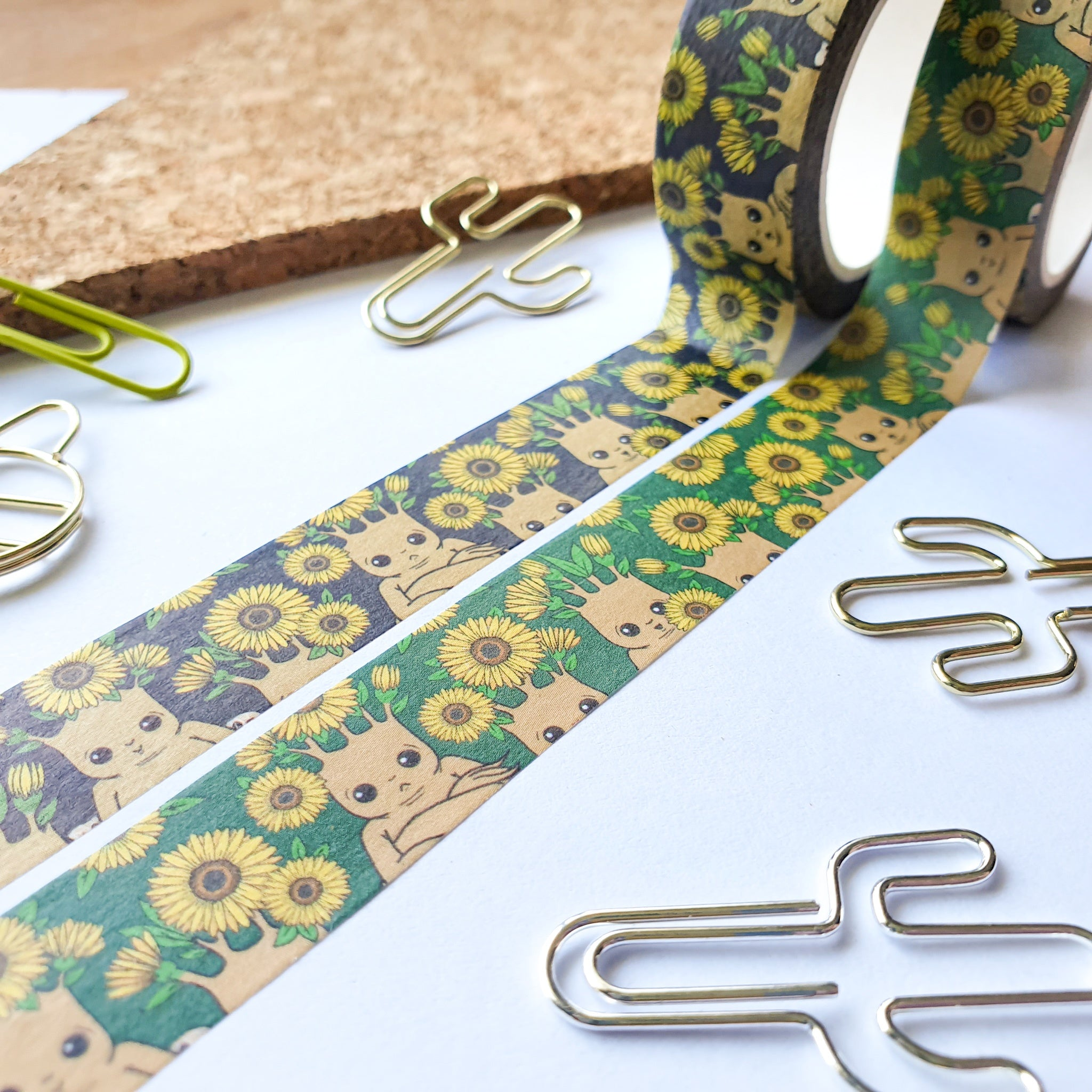 Sunflower Mandrakes Washi Tape (2 Colour Options)