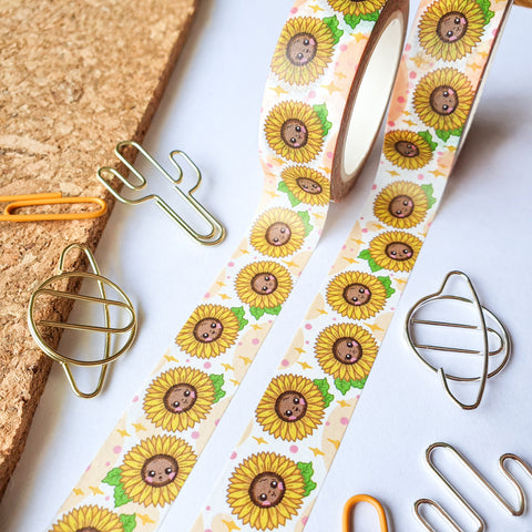 Summer Sunflowers Washi Tape