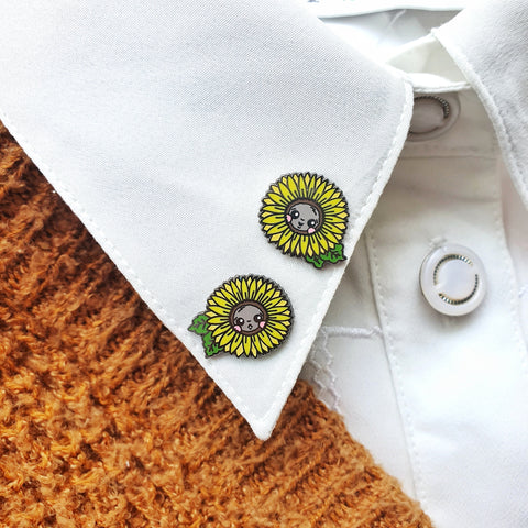 Summer Sunflowers Mini-Pin Set