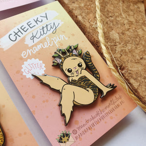 Cheeky Kitty Enamel Pin | Tiger
