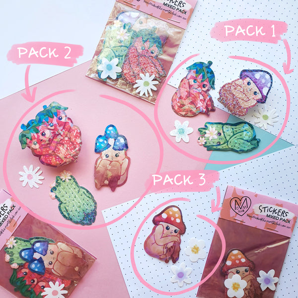 Holo Booties Sticker Pack | 3 Options