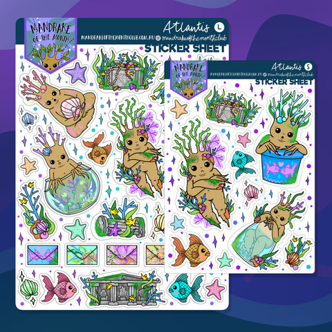 Atlantis Planner Sticker Sheet