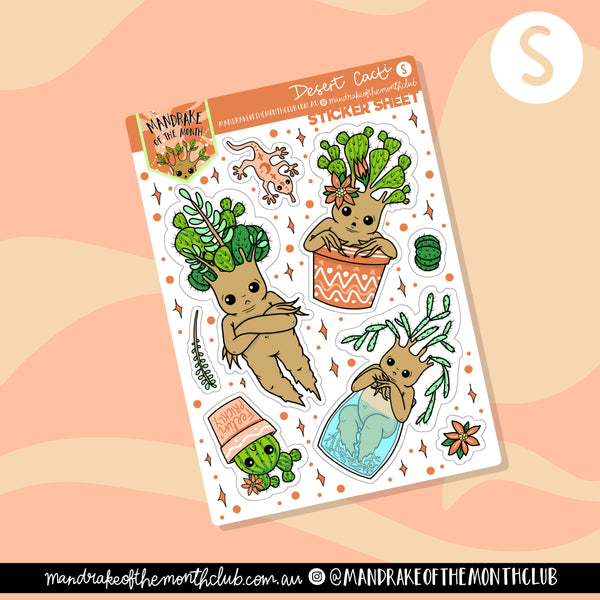 Desert Cacti Planner Sticker Sheet