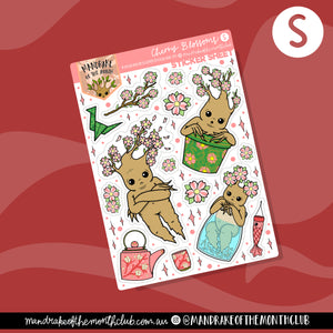Cherry Blossom Planner Sticker Sheet