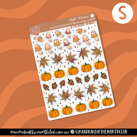 Fall Minis Planner Sticker Sheet
