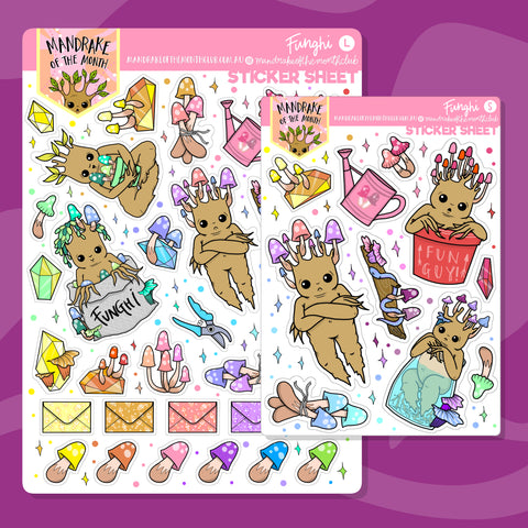 Funghi Planner Stickers
