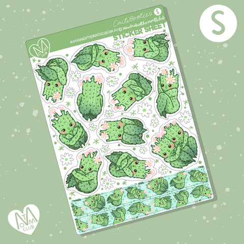 Cactibooties Planner Sticker Sheet