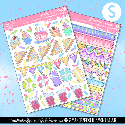 Birthday Duo Planner Sticker Sheets