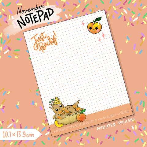 November Notepad | Peachy