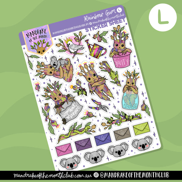 Rainbow Gum Planner Sticker Sheet