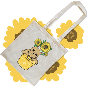 Sunflower Pot Tote Bag