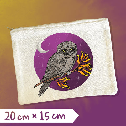 Tawny Frogmouth Zipper Pouch