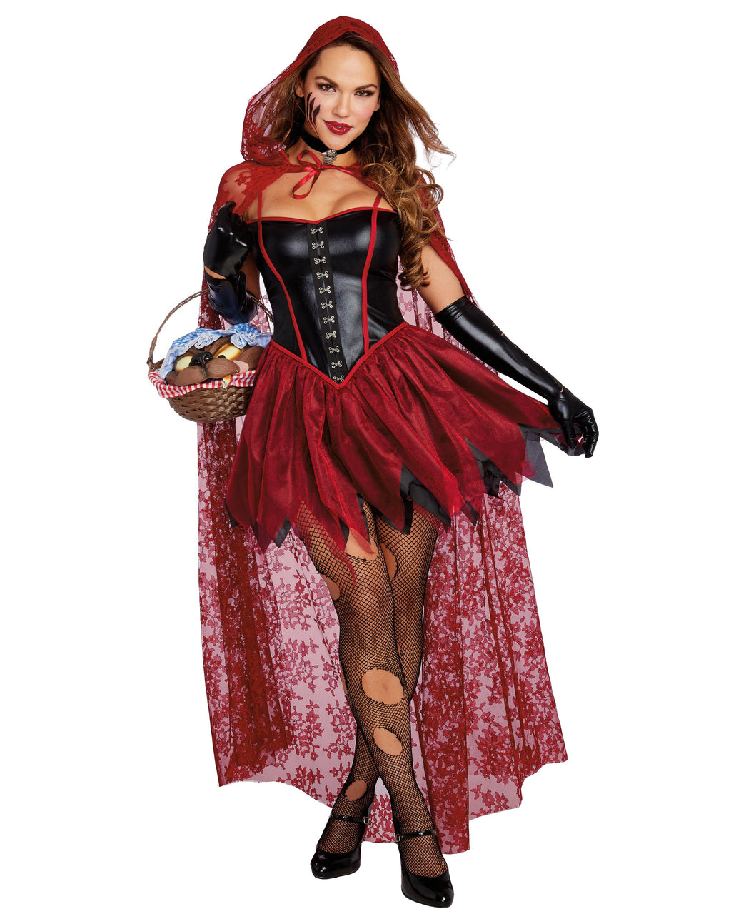 Big Bad Red Women's Costume Dreamgirl Costume