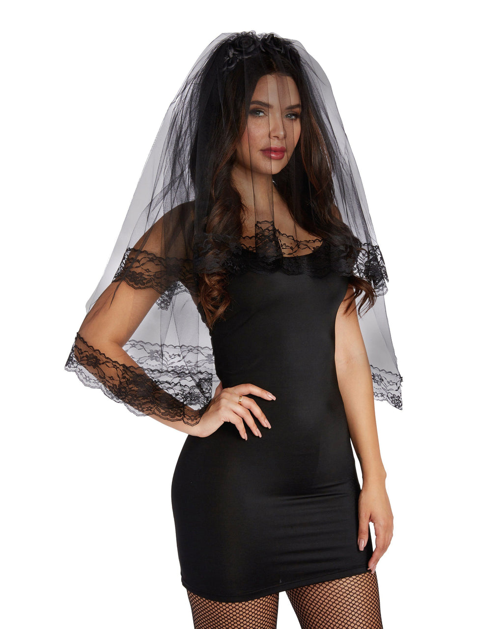 Black Veil Headpiece Headpiece Dreamgirl Costume