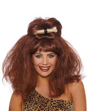 Cave Girl Wig with Bone Wig Dreamgirl Costume