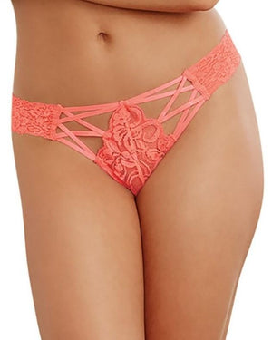 Criss-Cross Lace Panty Panty Dreamgirl International S Coral