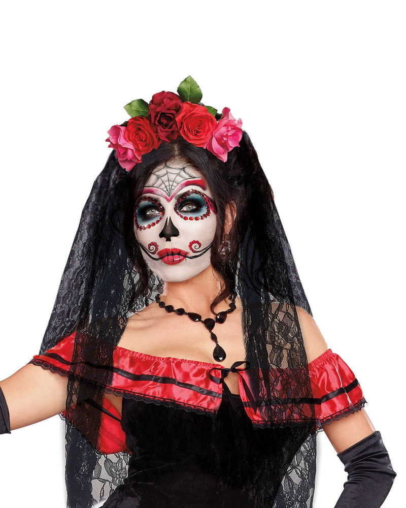 Day of The Dead Headpiece Headpiece Dreamgirl Costume