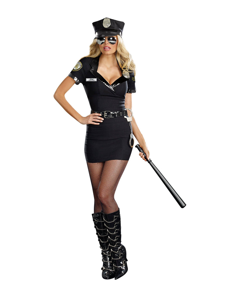 Dirty Cop Officer Anita Bribe Women's Costume Dreamgirl Costume