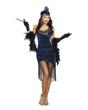 Downtown Doll Flapper Women's Costume Dreamgirl Costume