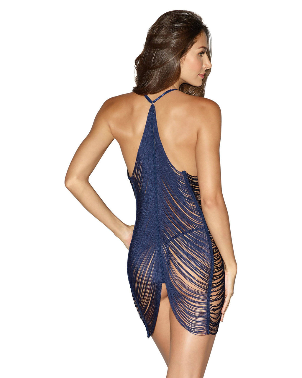 Draped Fringe Chemise Chemise Dreamgirl International