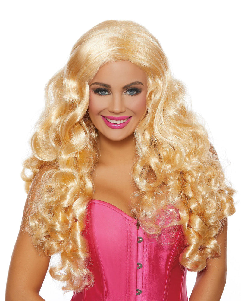Extra-Long Curly Blonde Wig Wig Dreamgirl Costume