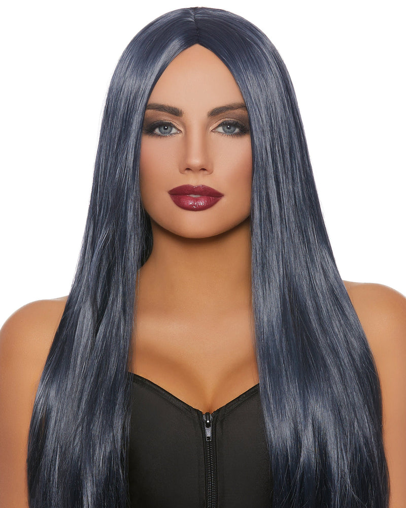 Extra-Long Straight Wig Wig Dreamgirl Costume Adjustable Midnight Blue