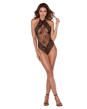 Eyelash lace Halter Teddy Teddy Dreamgirl International