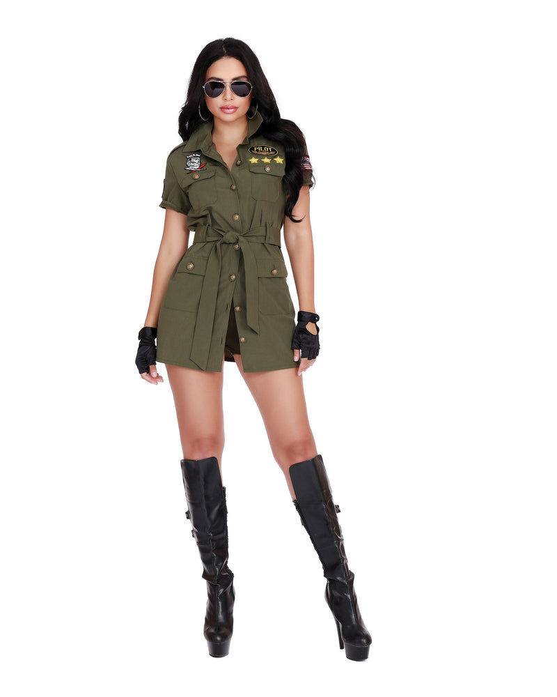 Fighter Pilot Women's Costume Dreamgirl Costume