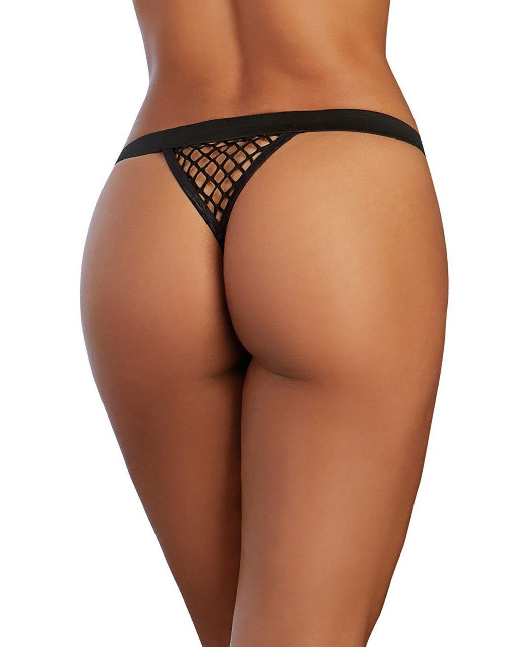 Fishnet G-String with Wide Elastic Waistband Panty Dreamgirl International