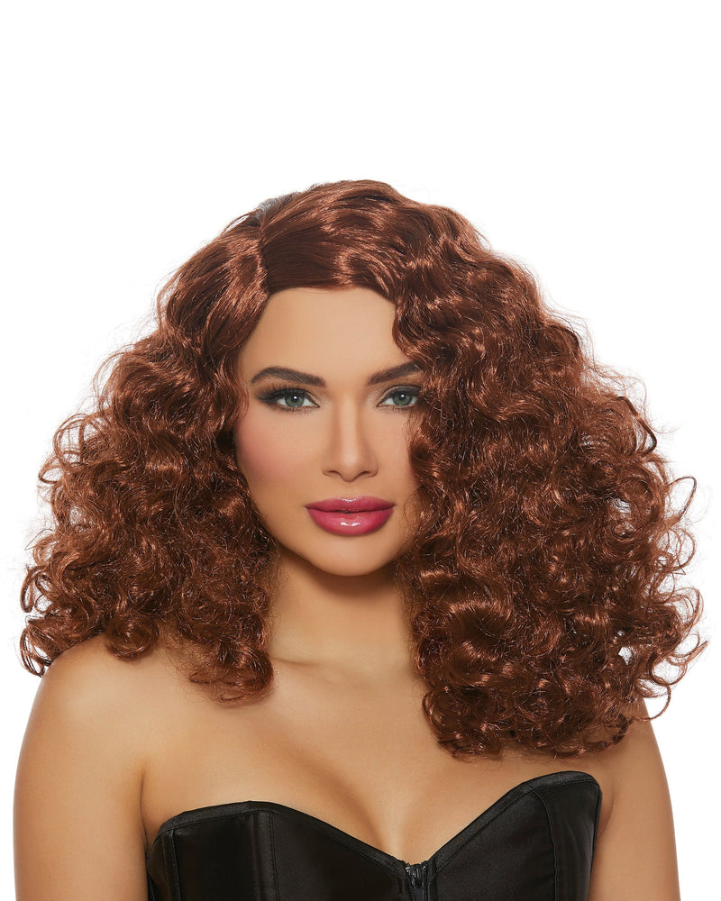 Full Curly Auburn Wig Wig Dreamgirl Costume