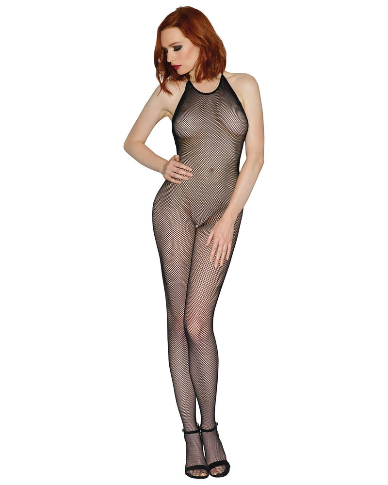 Halter Crotchless Fishnet Bodystocking Bodystocking Dreamgirl International