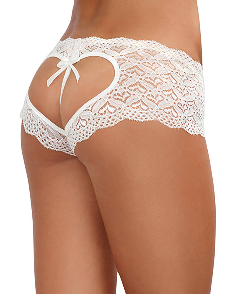 Heart Cutout Lace Panty Panty Dreamgirl International S Red