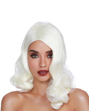 Hollywood Glamour Wig Wig Dreamgirl Costume Adjustable Blonde