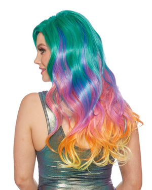Jewel Tone Rainbow Wig Wig Dreamgirl Costume