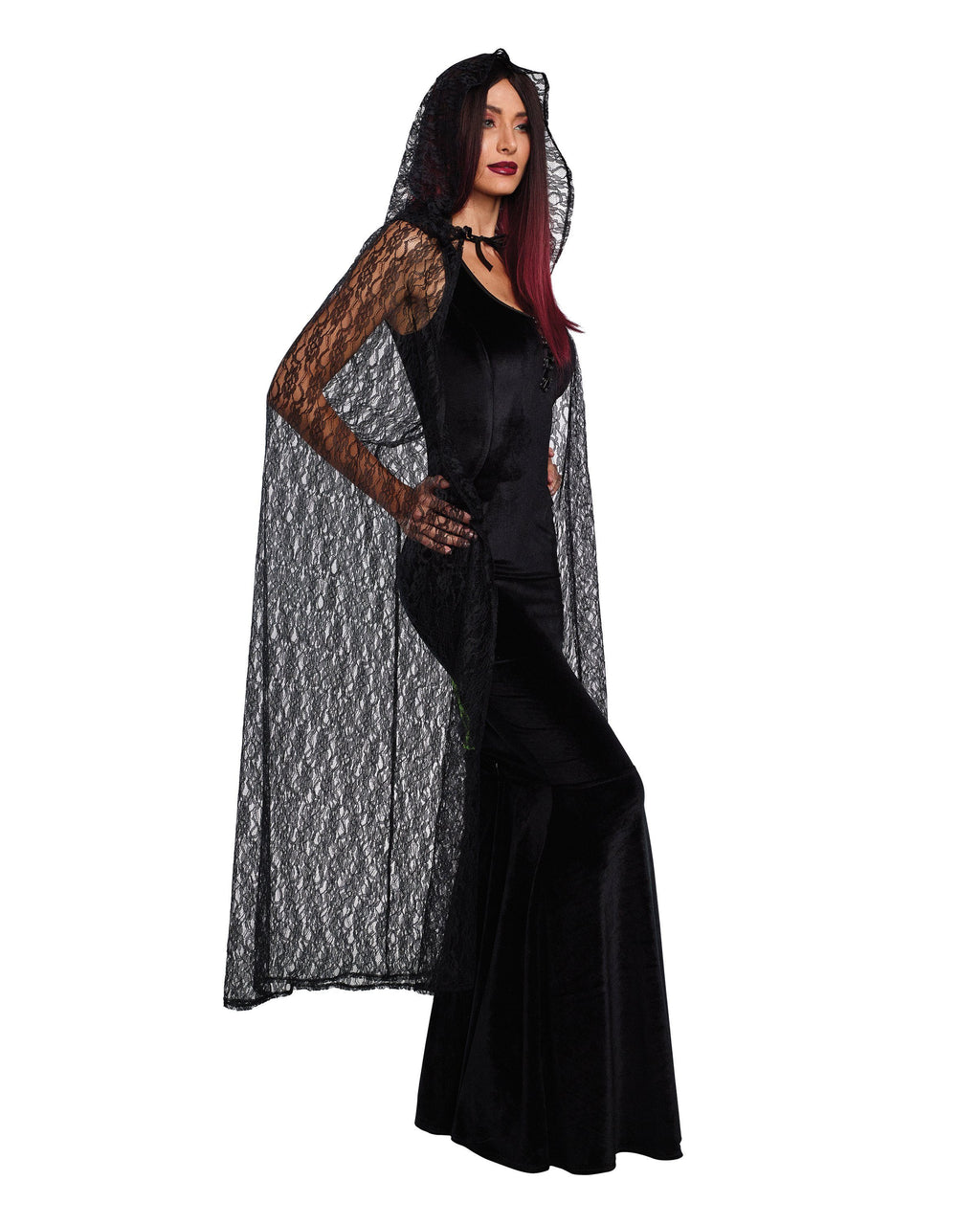 Lace Cape with Hood Costume Accessory Dreamgirl Costume