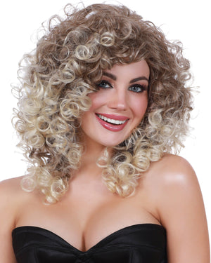 Long Curly with Dark Roots Wig Wig Dreamgirl Costume