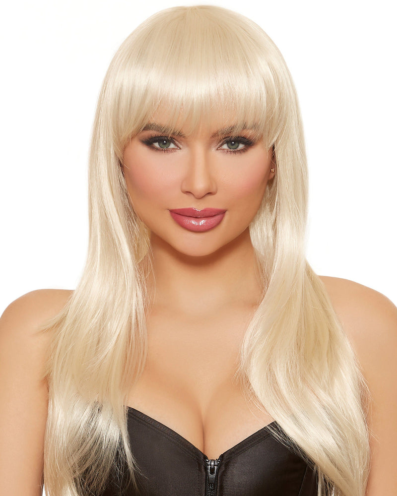 Long Straight Layered Wig Wig Dreamgirl Costume Adjustable Blonde